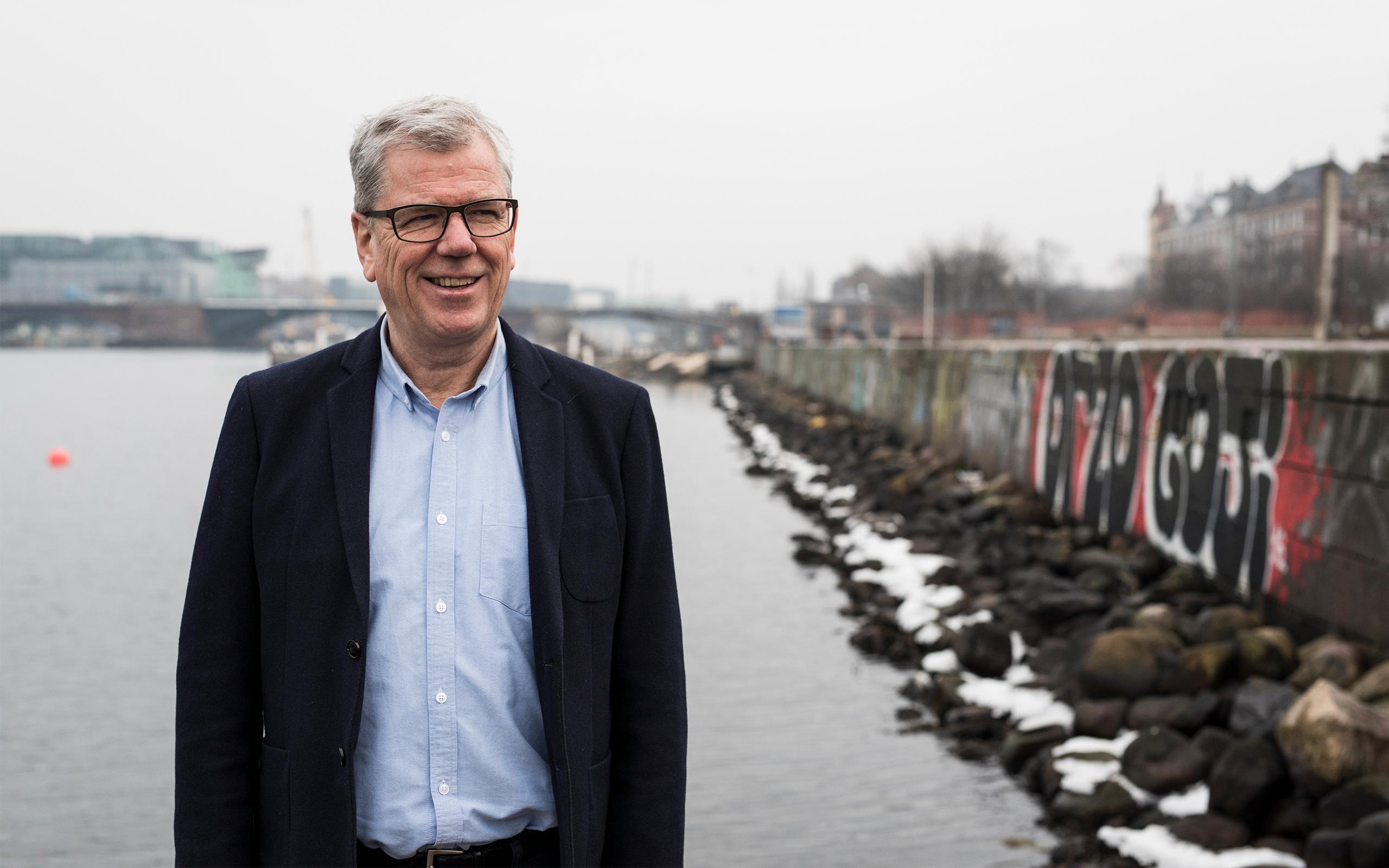 Jan Henriksen ved Islands Brygge i Københavns Havn