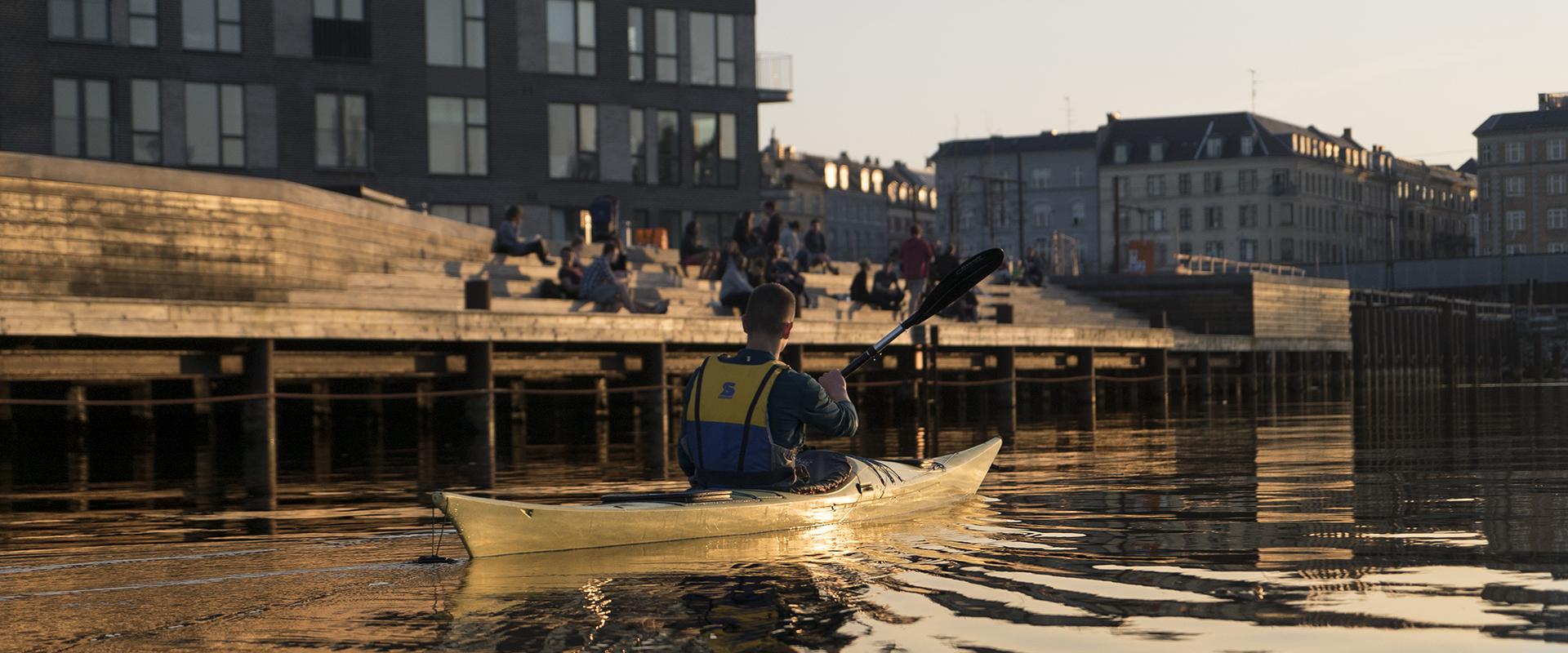 Kajakroer i Nordhavn