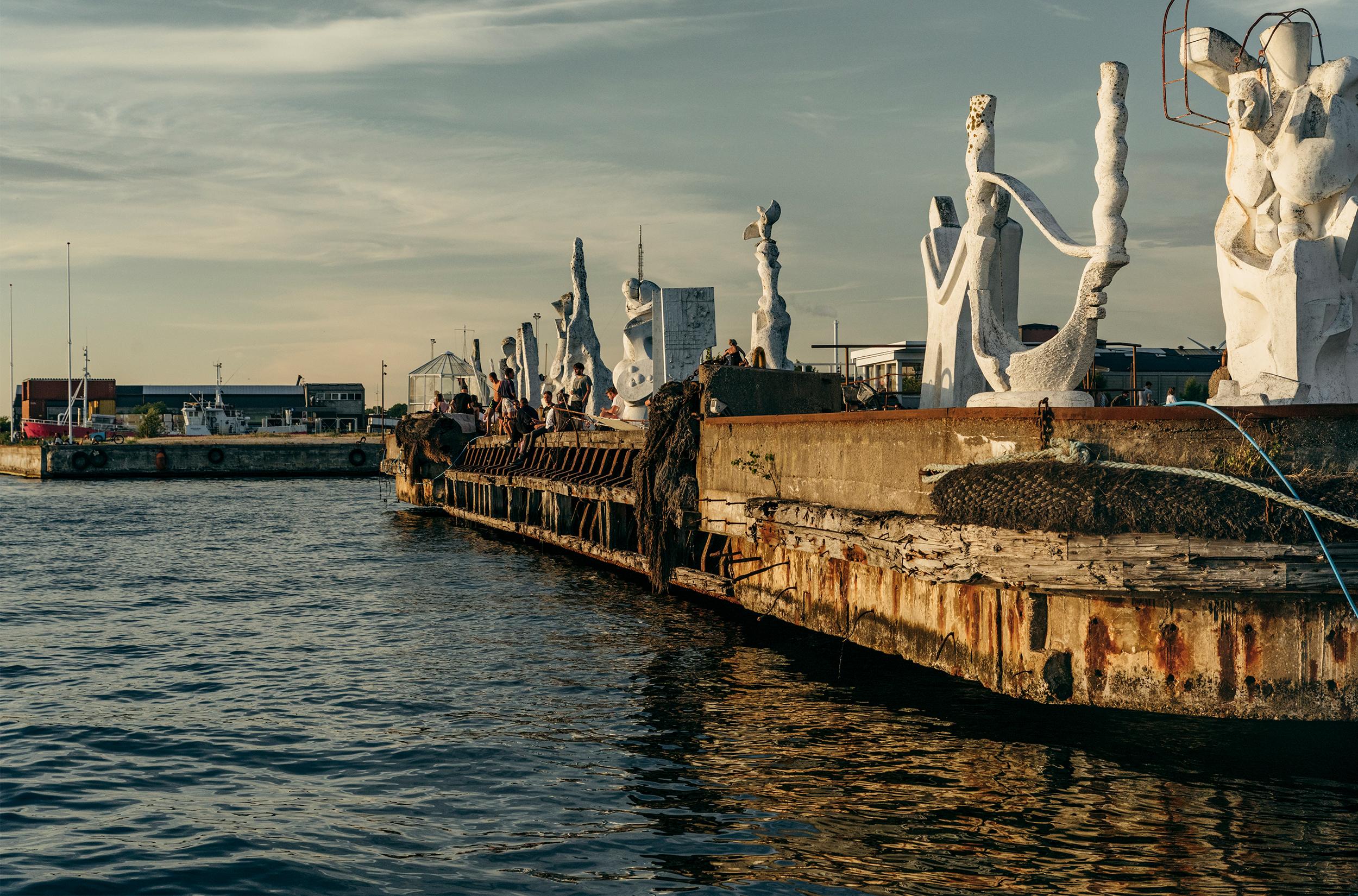 Skulpturer på Refshaleøen / Foto: Andreas Raun Arneberg