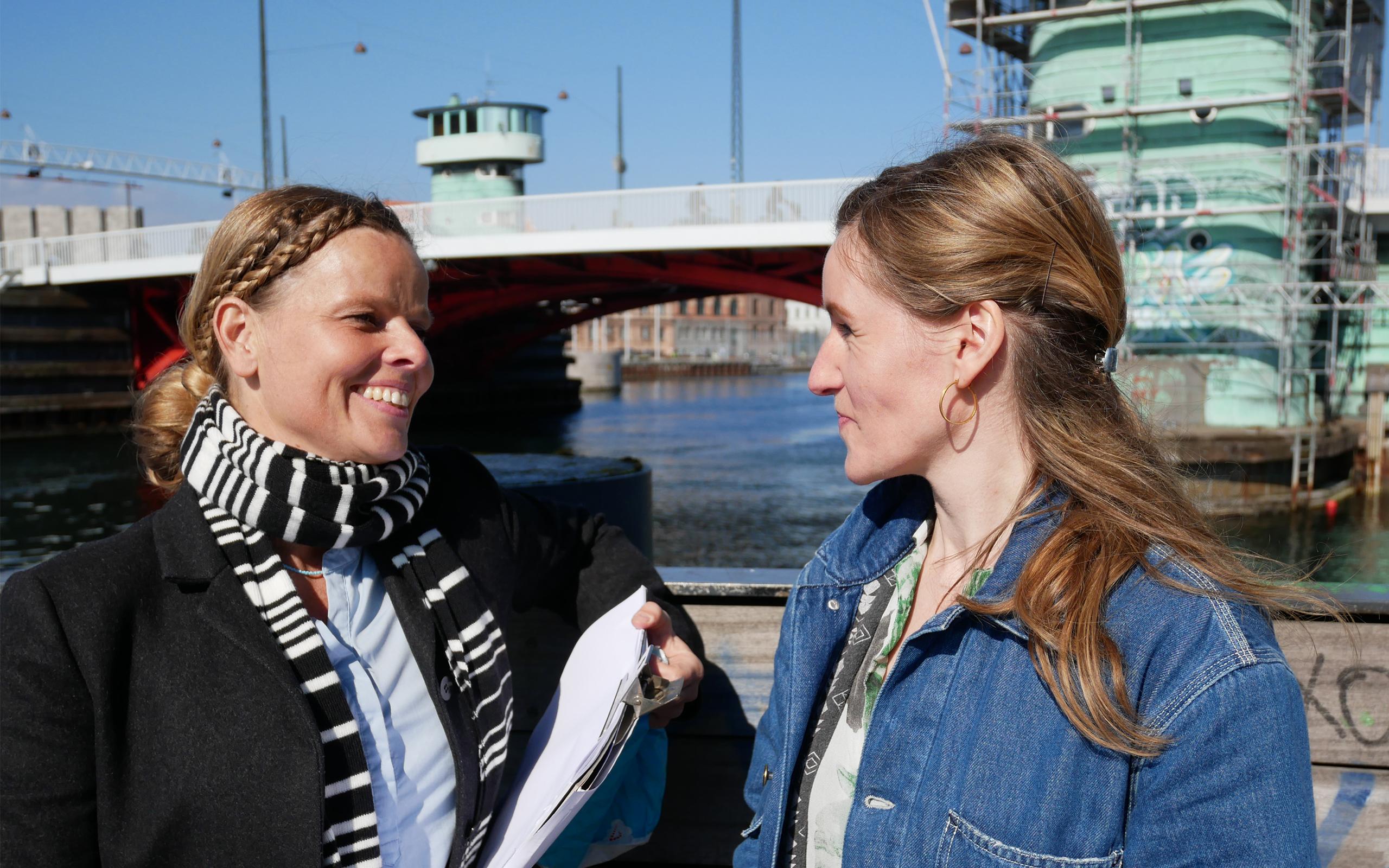 Lisbeth van Deurs og Stine Sørensen fra Det Mobile Akademi
